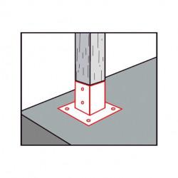 Portapilastro quadrato sezione 12x12