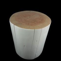 Sgabello tronco di cedro arredamento moderno