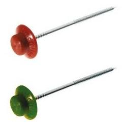 Chiodi onduline con rondella in plastica colorata - 100 pz